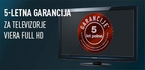 Vsi HD televizorji Panasonic do 28. februarja 2011 s 5-letno garancijo!