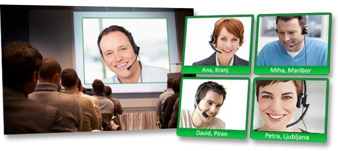 Gostje lahko preko videokonference v živo sodelujejo v TV oddaji