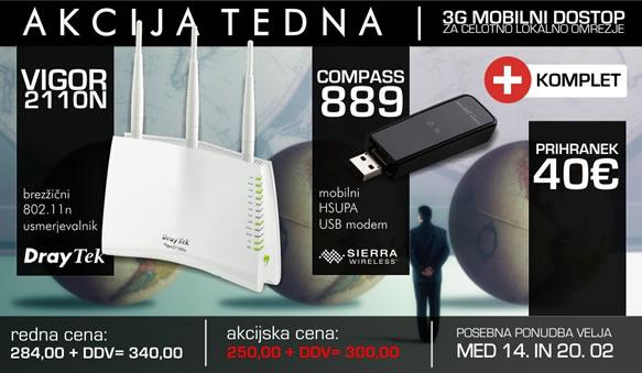 3G mobilni dostop za celotno lokalno omrežje
