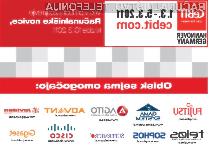 Naš tehnološki izlet na CeBIT 2011 so podprla nekatera uspešna slovenska podjetja.