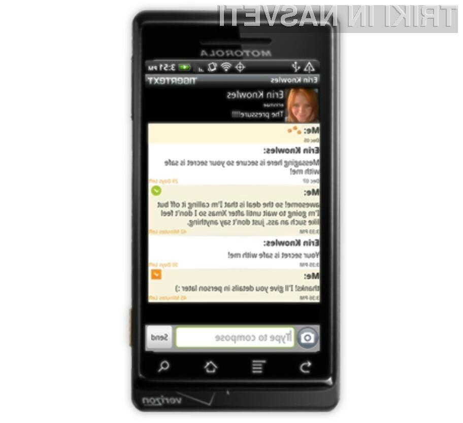 Programska oprema TigerText poskrbi za samodejno brisanje »spornih« kratkih sporočil SMS.