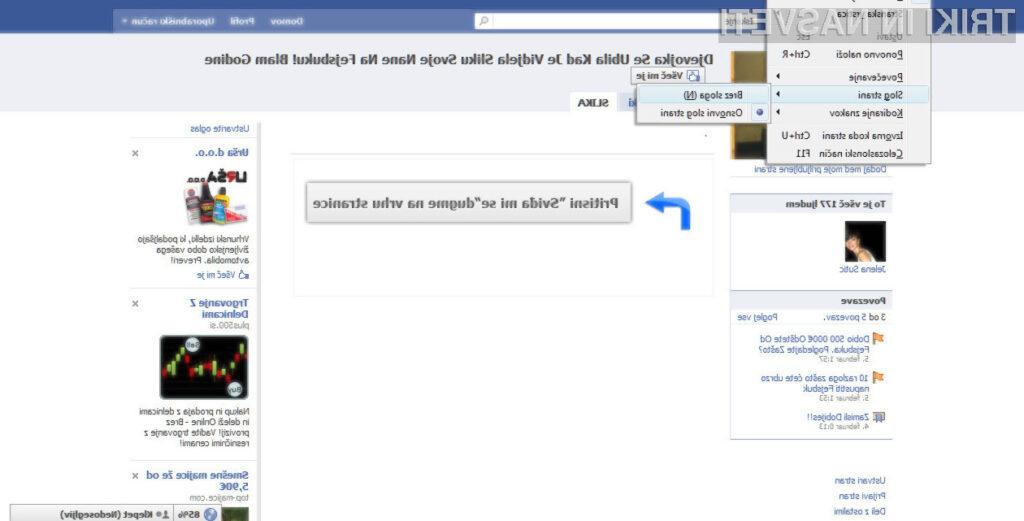 Kako prelisičiti vsiljive Facebook strani