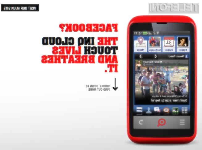 Pri INQ Mobile demonstrirali svoj Facebook telefon