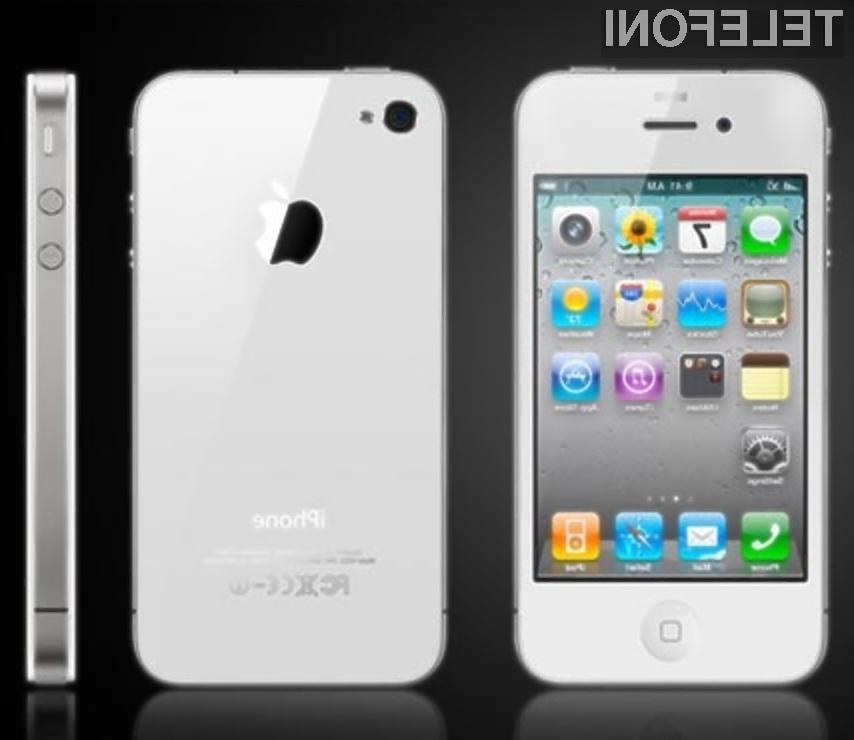 Na belega iPhona 4 bo potrebno počakati le še slab mesec dni.