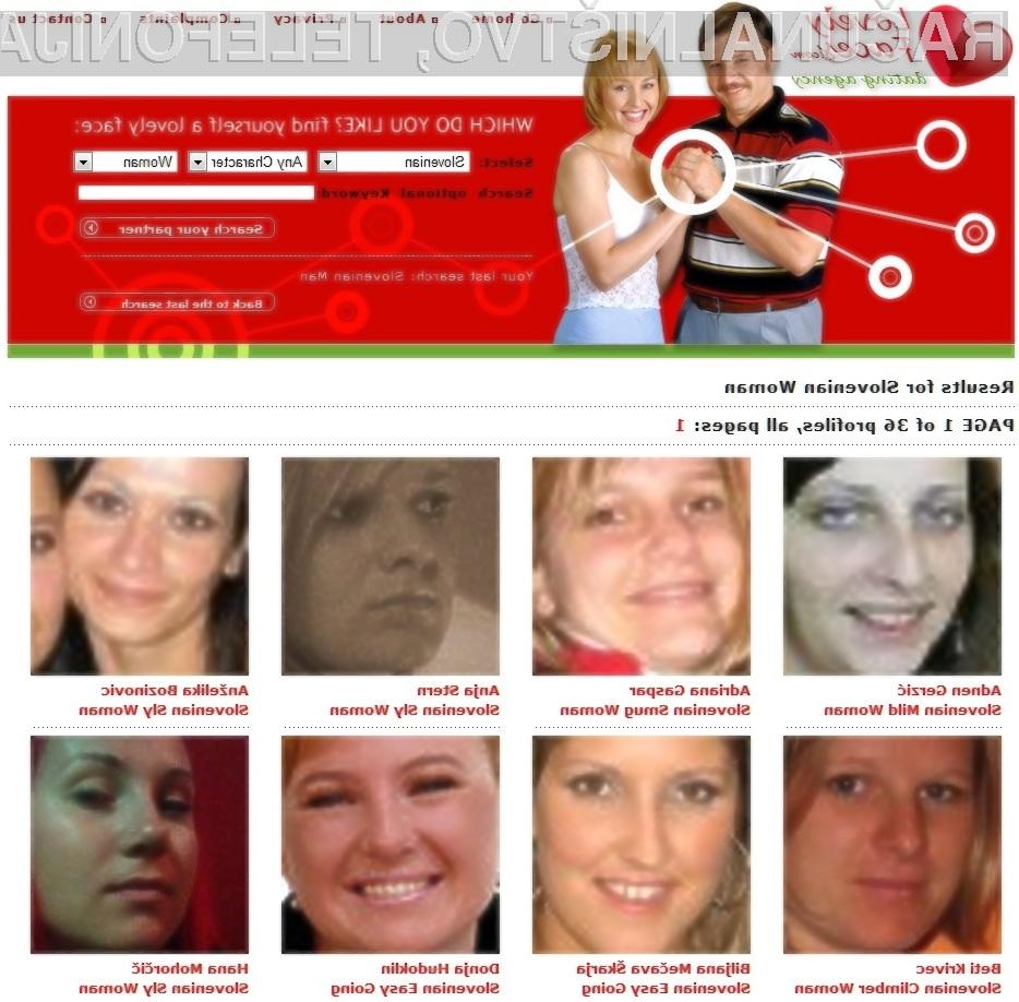 Ste že preverili, ali je na spletni strani Lovely-Faces objavljen vaš Facebook profil?