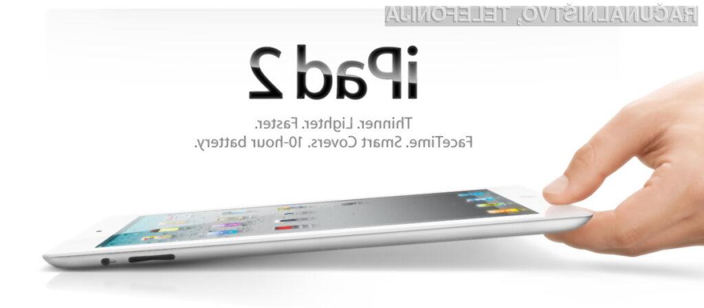 Steklo novega iPada 2 prenese upogibanja tudi za pet centimetrov.