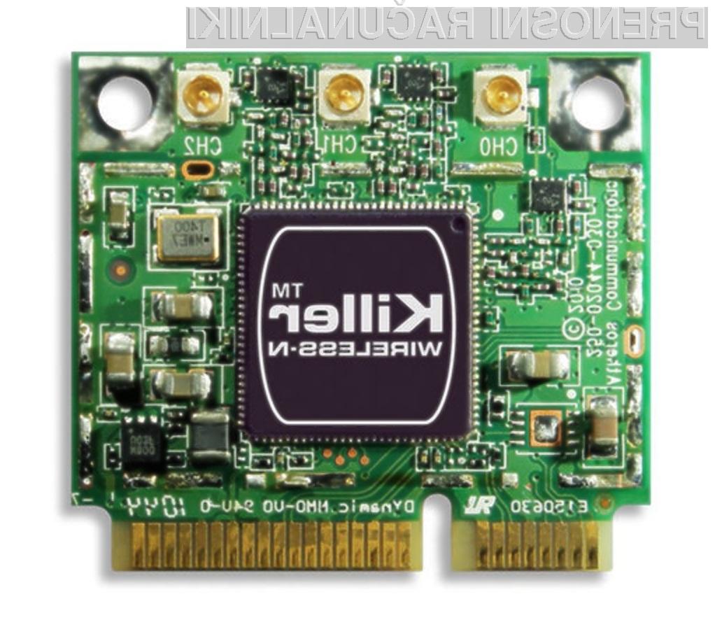 Ubijalska mrežna kartica Killer Wireless-N bo poskrbela za tekoče poganjanje spletnih iger!