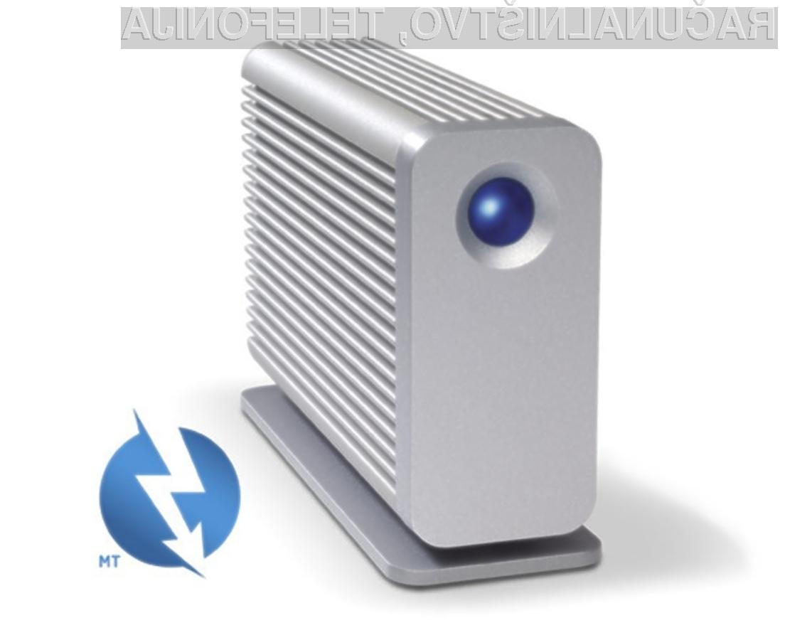 Podjetje LaCie verjame v prihodnost tehnologije Thunderbolt.