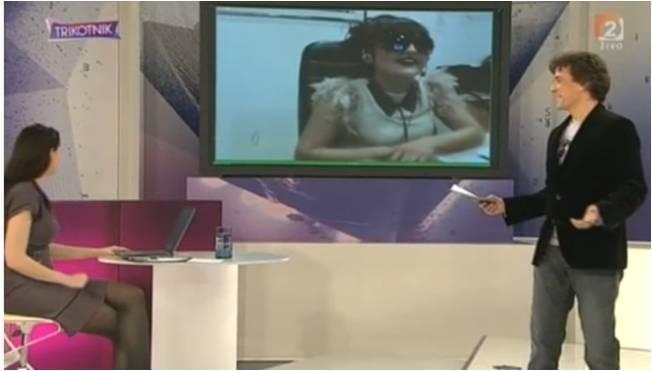 Pevka April v videokonferenci ISL Groop TV