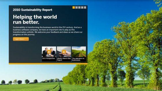 SAP poročilo o trajnostnem razvoju 2010