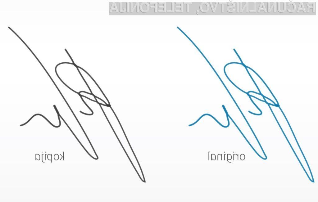 Kateri podpis je pristen?