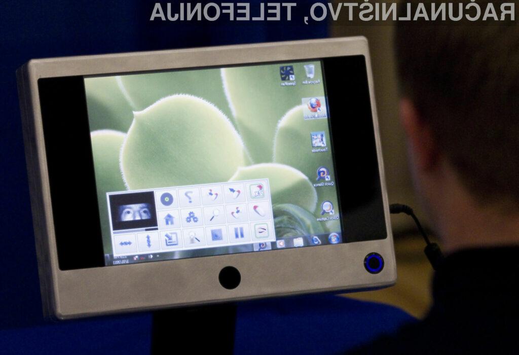 Invalidom prijazen tablični računalnik, omogoča enostavno pomikanje miškinega kazalca s pomočjo oči.