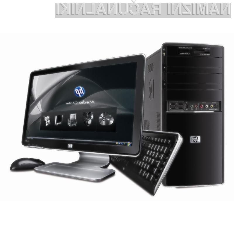 Podjetje HP je najbolje prodajalo svoje osebne računalnike.