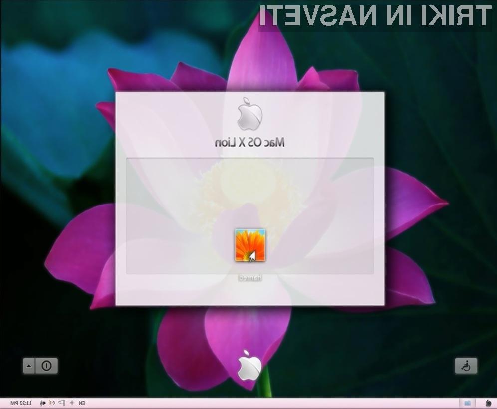 Uporabniški vmesnik operacijskega sistema MacOS X Lion na operacijskem sistemu Windows 7.