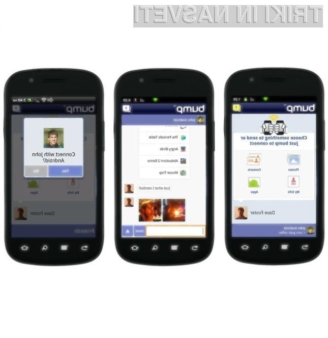Programska oprema Bump omogoča celo izmenjevanje podatkov med mobilniki Android in iPhone.