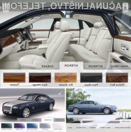 Izberite barvo svojega Rolls Royce-a