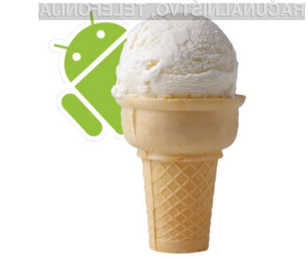"""""""Sladoledni sendvič"""" bo namenjen tako pametnim mobilnim telefonom kot tabličnim računalnikom."""