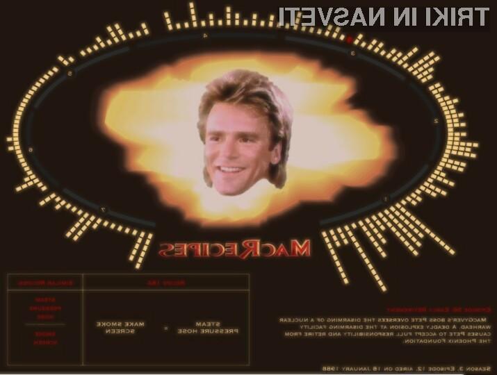 Na spletni strani MacRecipes najdemo kar 313 različnih trikov največjega izumitelja iz televizijskih nadaljevank.