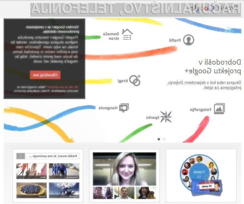 Google+ predstavlja evolucijo socialnih omrežij.