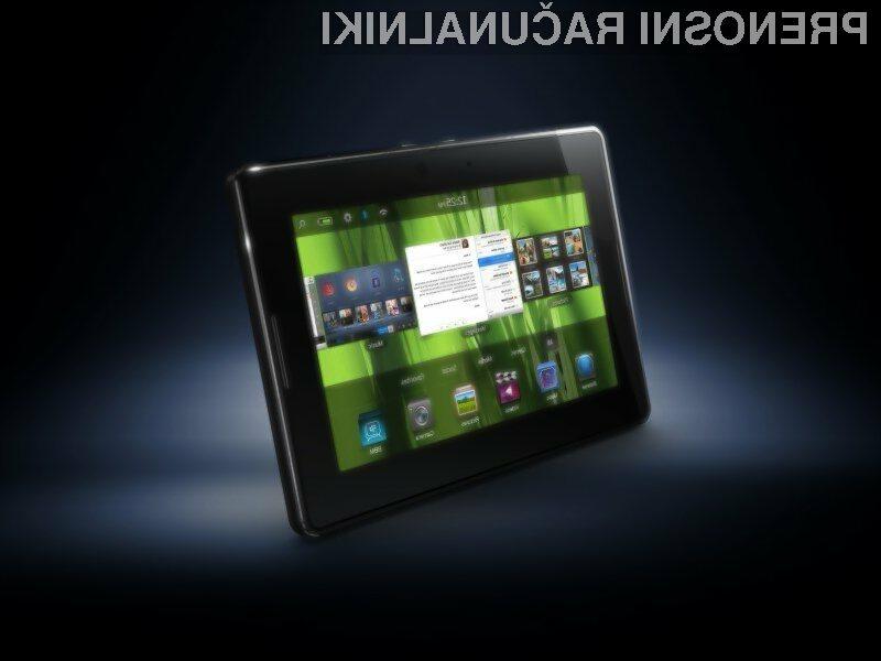 Tabličnega računalnika BlackBerry PlayBook v Slovenijo za zdaj še ne bo.