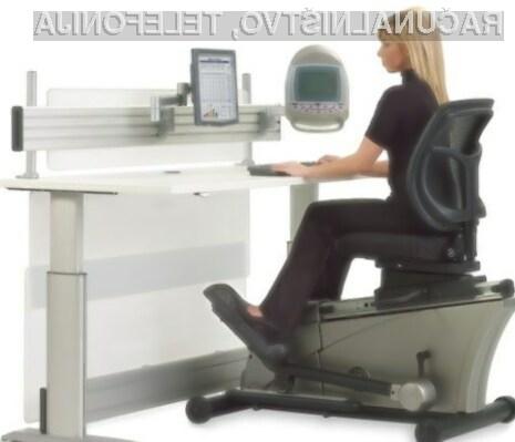 Z računalniško mizo Elliptical Machine Office Desk bomo hitro izgubili odvečne kilograme.