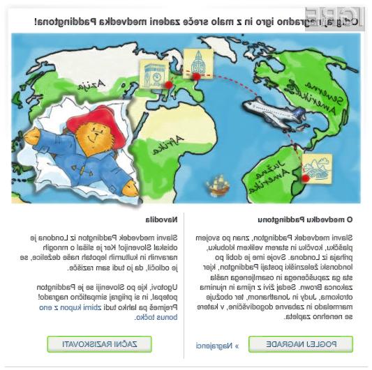Spletna igra Medvedek Paddington na potepu