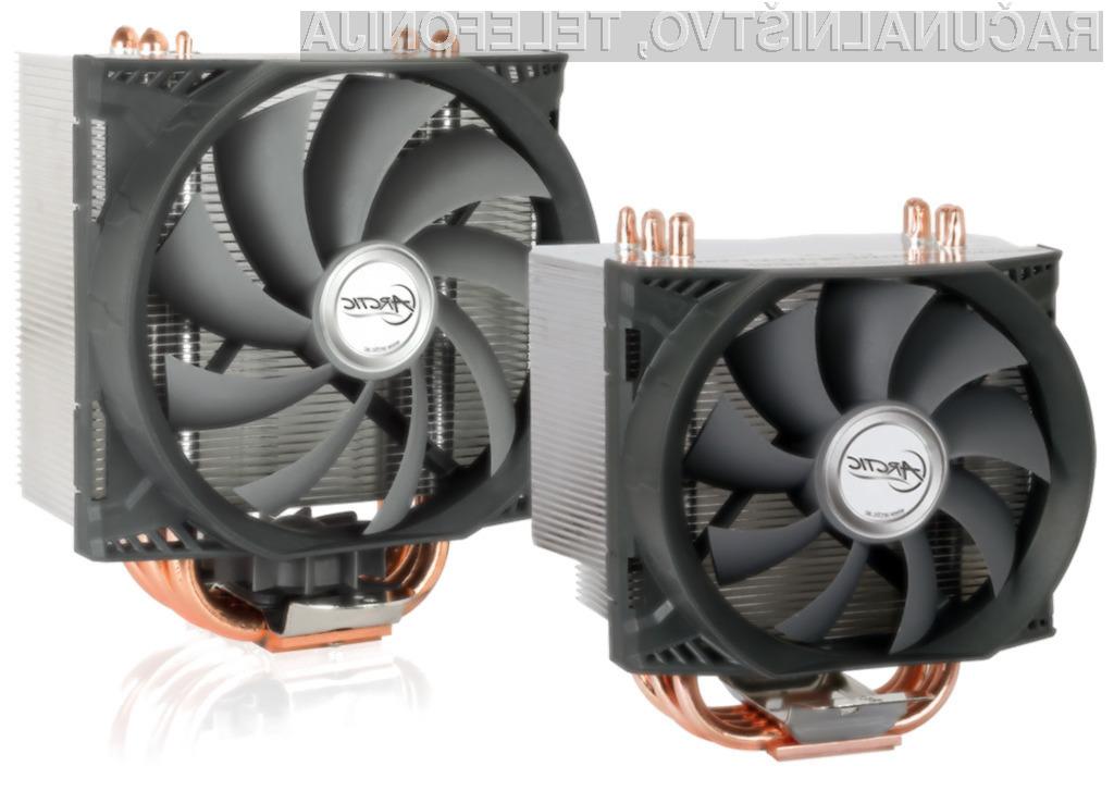 Model Pro premore še manjši 50 milimetrski ventilator, ki je pritrjen na spojno ploščo.