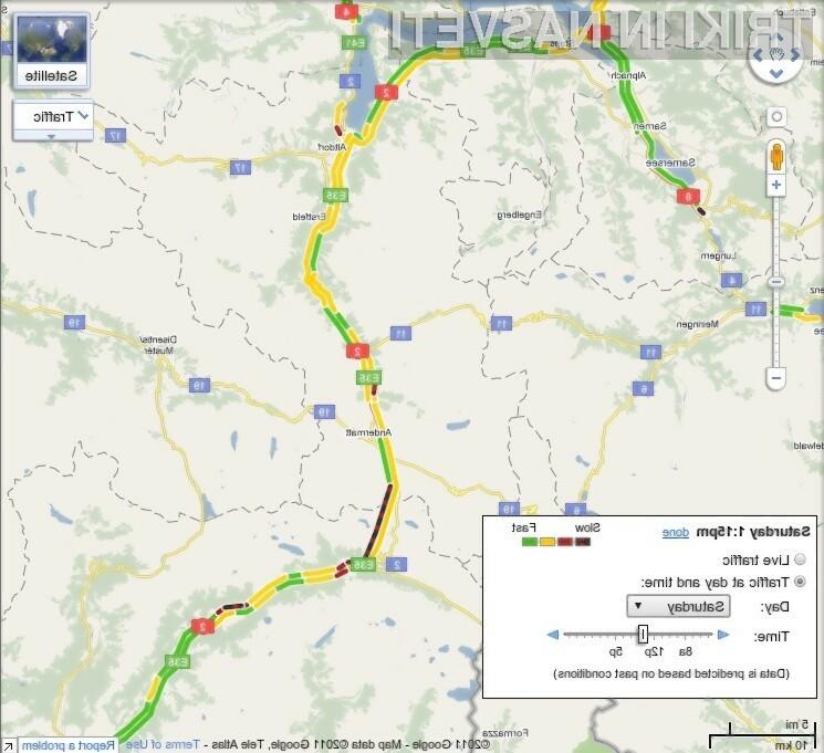 Google Maps je postal bogatejši za podatke o prometu v živo za 13 evropskih držav.
