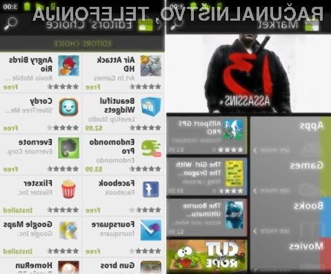 Novi Android Market bo ponudil možnost nakupa knjig in izposojo filmov.