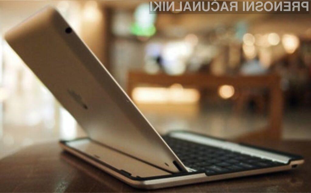 S tipkovnico Aluminum Keyboard Buddy Case bo delo s tablico iPad 2 postalo nadvse prijetno.