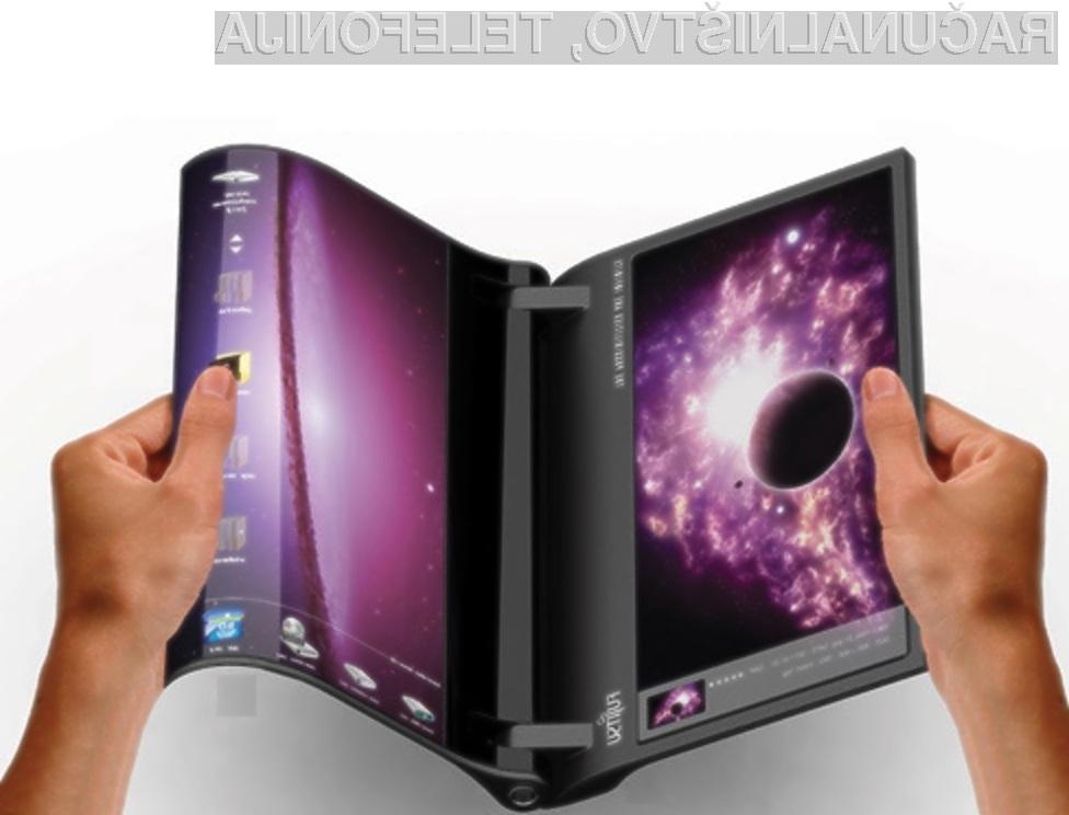 Prenosni računalnik z upogljivima zaslonoma bi bil kot nalašč za prebiranje elektronskih knjig.
