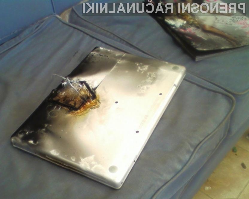 Ranljivost v baterijah lahko privede do izbruha požara ali celo eksplozije MacBooka.