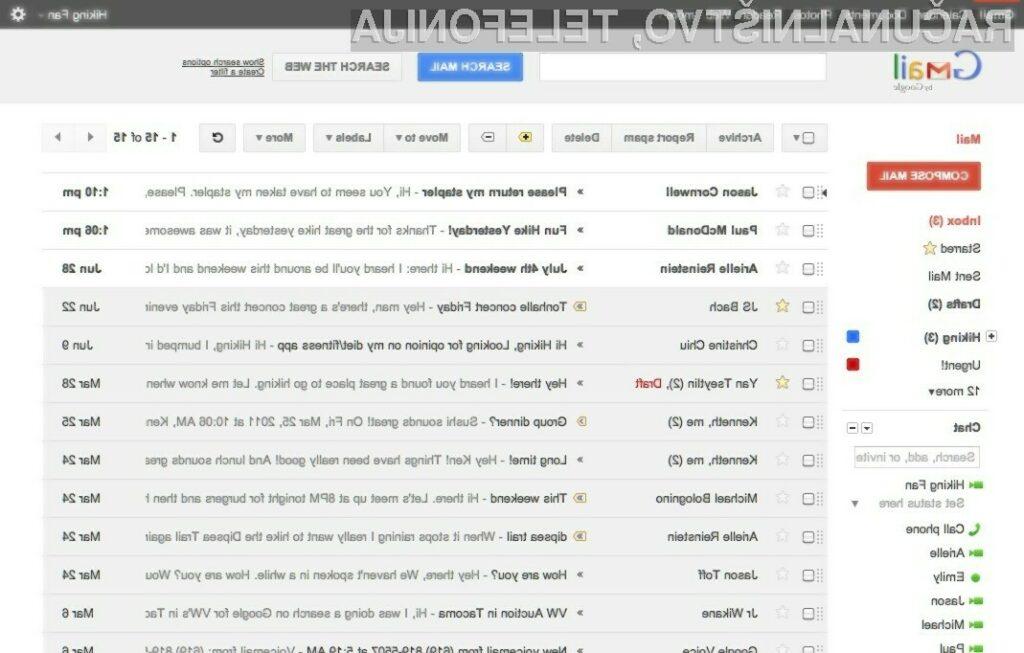 Grafično prenovljeni Gmail navdušuje!