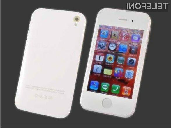 Mobilnik hiPhone 5 naj bi bil, vsaj po zunanjosti, povsem identična kopija iPhona 5.