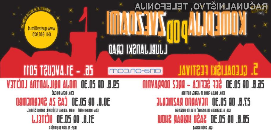 Komedija pod zvezdami in spoznavni večeri Ona-On.com na Ljubljanskem gradu