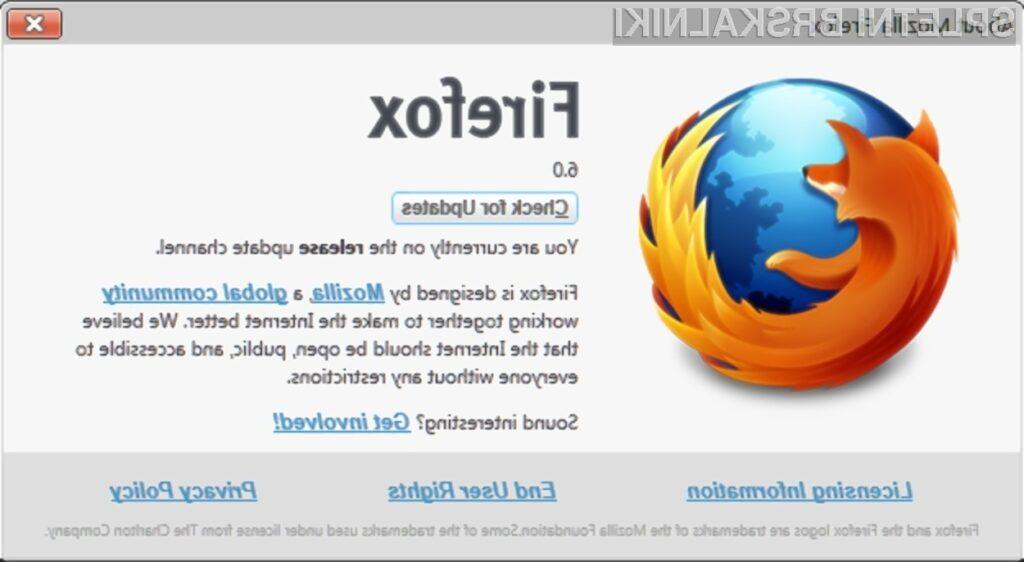 Vas je spletni brskalnik Firefox 6 prepričal?
