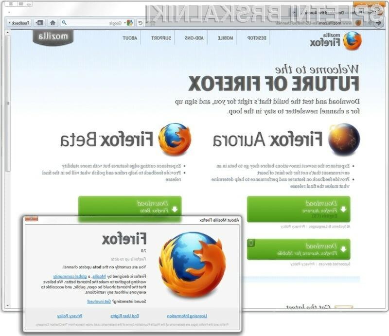 Firefox 7, bo zaradi tako imenovane tehnologije MemShrink, porabil tudi do 50% manj pomnilnika.