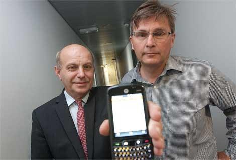 Logistični svetovalec Stojan Grgič in Dejan Reichmann (desno)