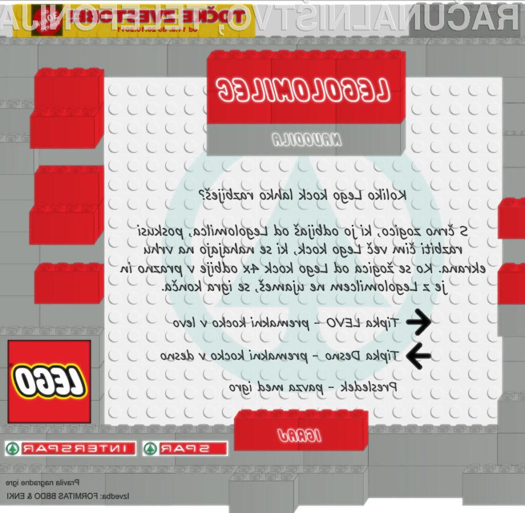 Odigrajte Sparov Legolomilec!