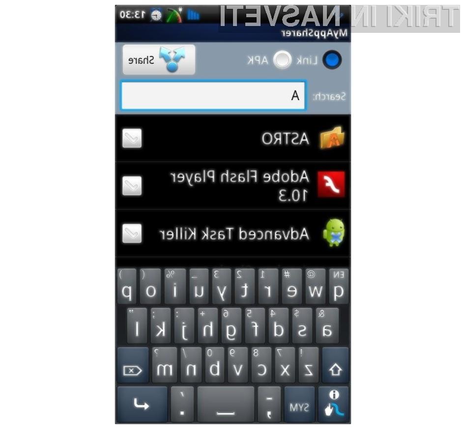 Aplikacija MyAppSharer je pisana na kožo hitremu deljenju Android aplikacij in računalniških iger.