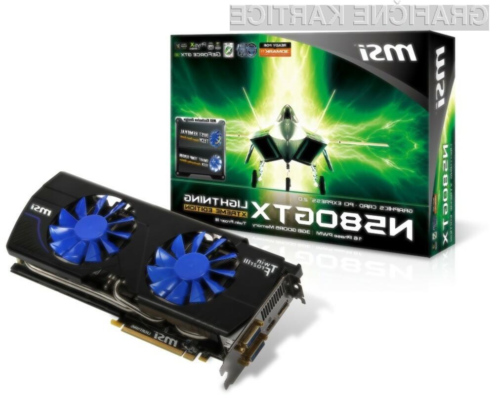 Kartica N580GTX Lightning Xtreme Edition je opremljena s kakovostnim Twin Frozr III hladilnikom.