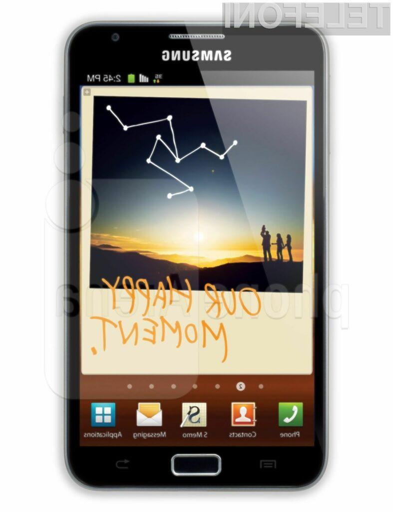 Mobilnik Galaxy Note ne odlikuje le velik zaslon, ampak tudi dobra zmogljivost.