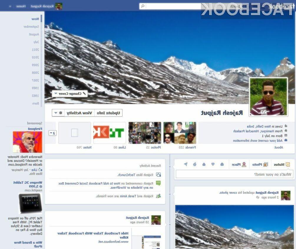 Facebook Timeline navdušuje?