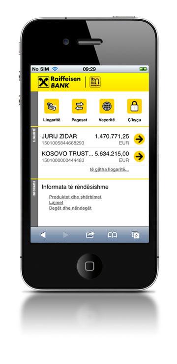 Halcomova rešitev Hal M-Bank v Raiffeisen banki Kosovo