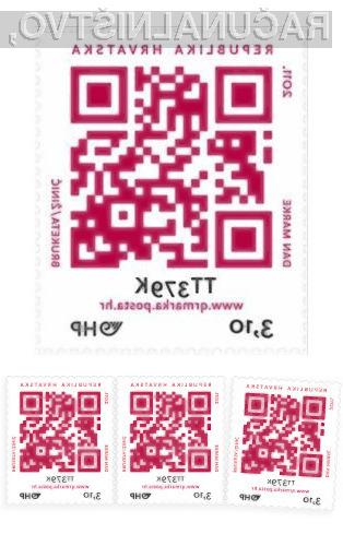 Hrvaška pošta je predstavila znamko, ki namesto običajnih znanih obrazov in pokrajine uporablja kar QR kodo.