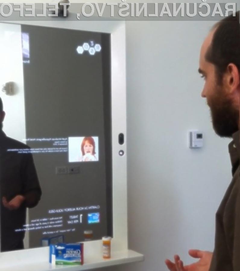 Magično večpredstavnostno ogledalo »Magic mirror« žal še ne bo kmalu naprodaj, saj gre tu šele za prvi prototip.
