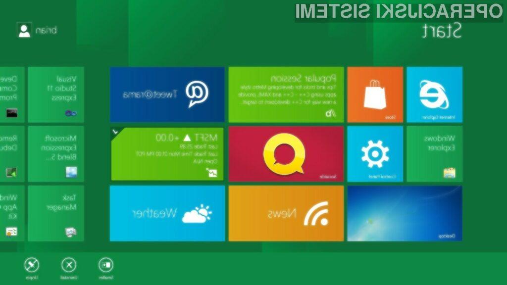 Na konferenci BUILD Windows, je bil v celoti predstavljen uporabniški vmesnik novih Widnows 8.