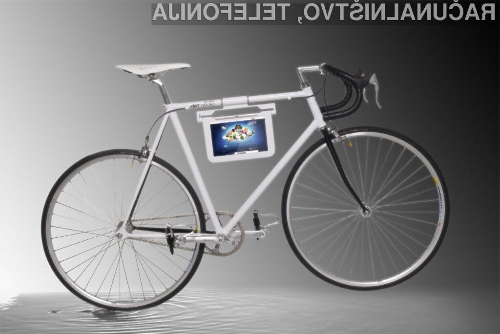 Angleško podjetje je predstavilo posebno kolo, opremljeno z nosilcem za Samsungov Galaxy Tab 10,1.