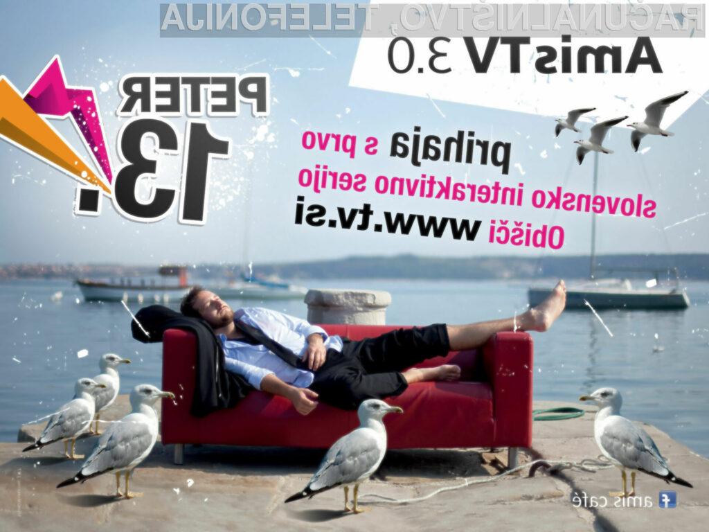 Amis je predstavil prvo slovensko interaktivno serijo Peter 13. Več na www.tv.si.