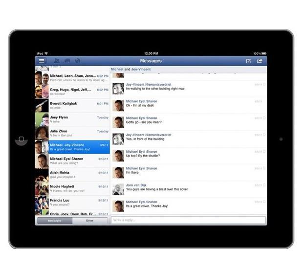Družbeno omrežje Facebook se na Applovi tablici iPad počuti kot riba v vodi!